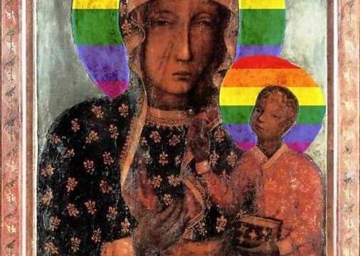 Arrestan a mujer en Polonia: había puesto bandera LGBT en halo de la Virgen
