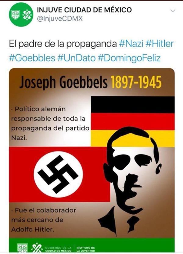 Por tuit con referencia al nazismo, despiden a encargado de redes del INJUVE.