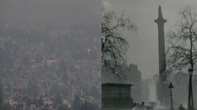 Londres y la CDMX. contaminación extrema
