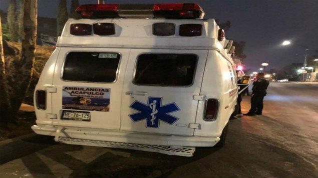 Presunta ambulancia que pertenecía al ERUM