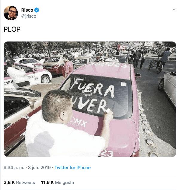 Foto falsa de taxista propagada por celebridades en Twitter