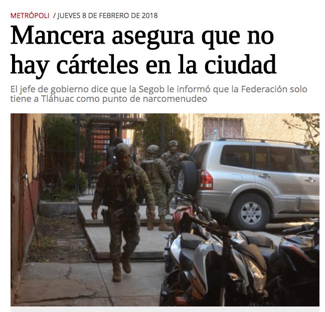 Última vez que Mancera aseguró que no había narco en CDMX