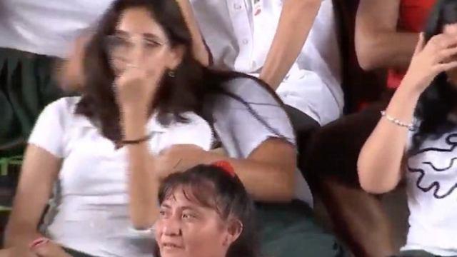 Hacen seña obscena a AMLO durante mitin en Yucatán