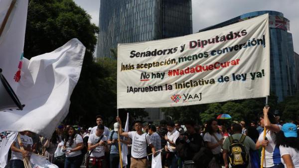 Marcha 41 del Orgullo LGBT+ en la Ciudad de México.
