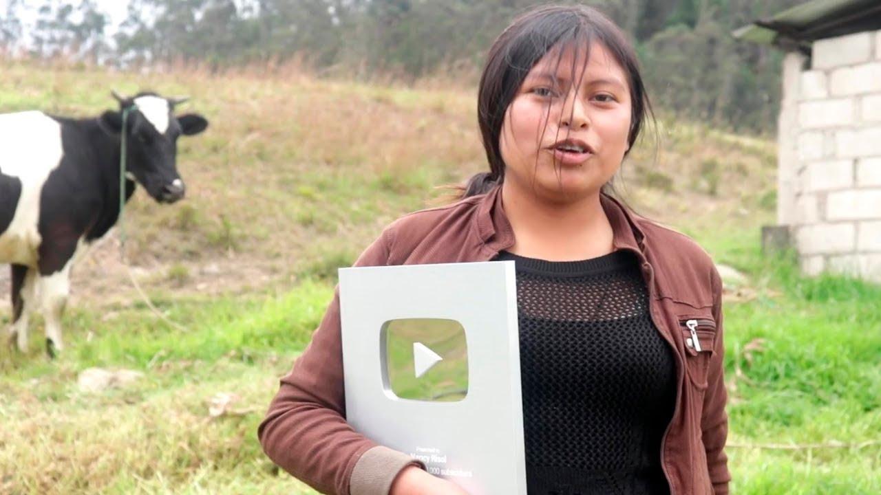 Youtuber indígena que superó el millón de suscriptores — Nancy Risol
