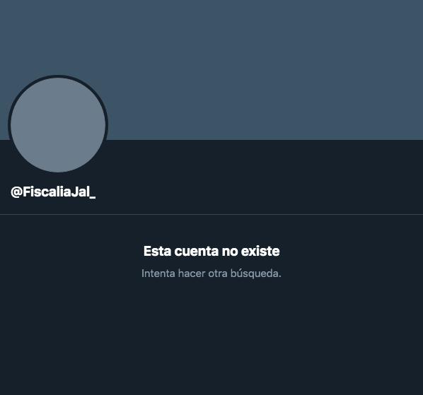 Eliminaron cuenta de la Fiscalía de Jalisco luego de hackeo