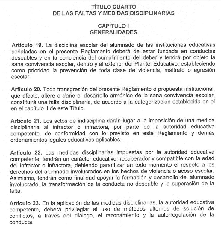 Reglamento de escuelas en Nuevo León: exigen medidas disciplinarias respetuosas
