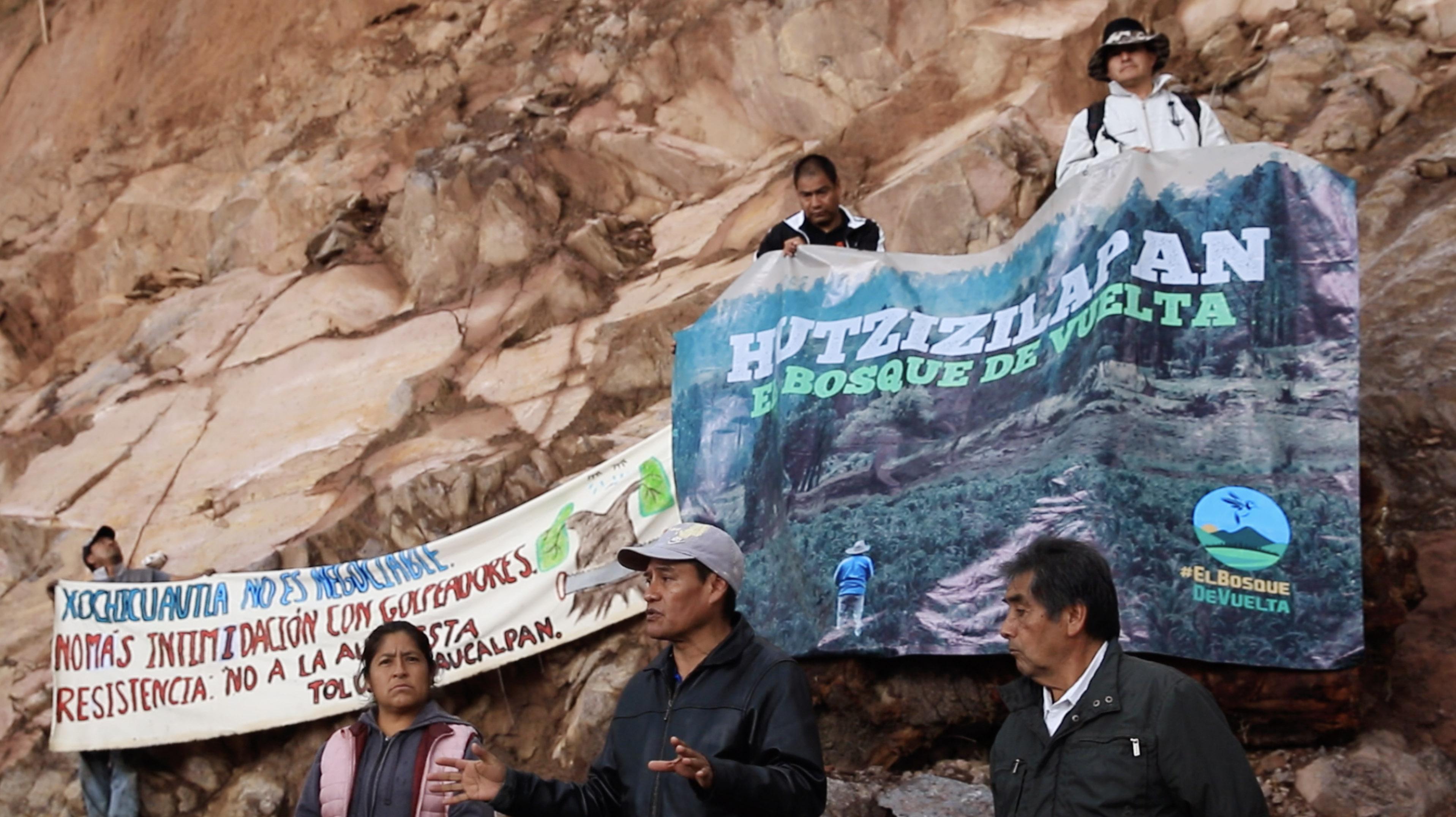 Pobladores otomíes resisten la tala del bosque en Estado de México