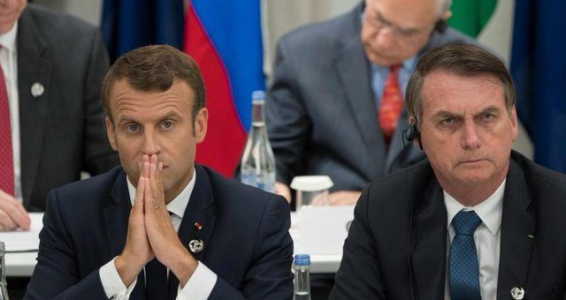 Bolsonaro exige Macron se disculpe o no aceptará ayuda del G7 para sofocar incendio del Amazonas.