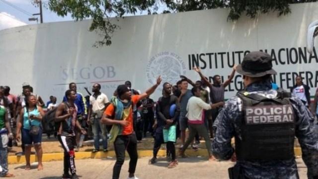 Migrantes en Tapachula denuncian violencia y trato inhumano