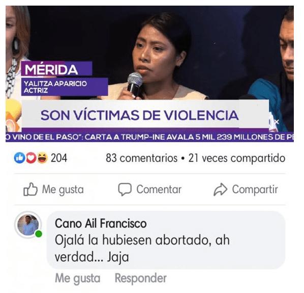 Comentario del ex líder panista en redes sociales