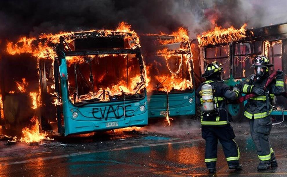 ¿Qué está pasando en Chile? protestas por el precio del transporte y la deficiencia del sueldo