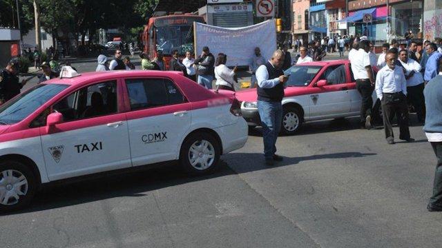 Taxistas anuncian bloqueos en CDMX y el Estado de México