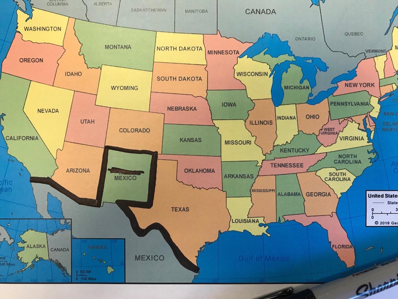 23/10/19 trump-muro-frontera-México/ Colorado