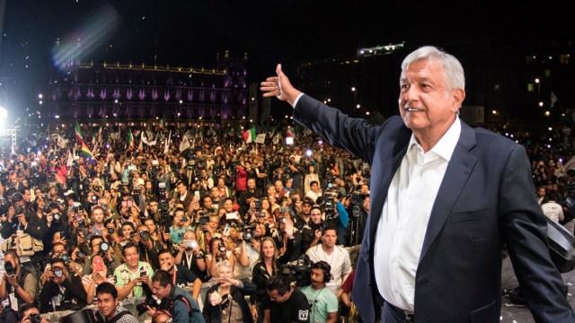 AMLO durante el AMLOFest de Julio 2019 en el Zócalo