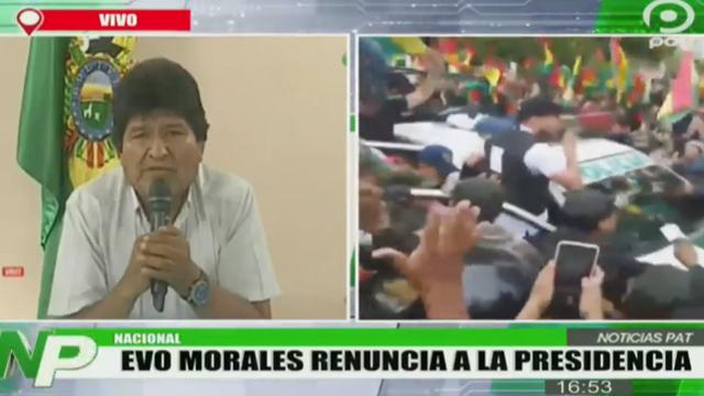 10/11/19, Evo Morales, Renuncia, Presidencia, Bolivia