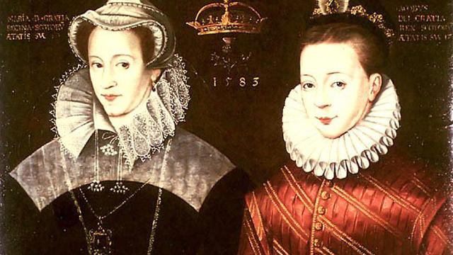 Maria Estuardo y Jacobo VI de Escocia y I de Inglaterra