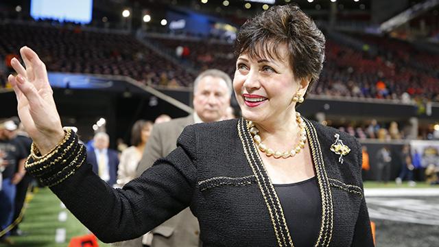 Gayle Benson, la dueña de los Santos,