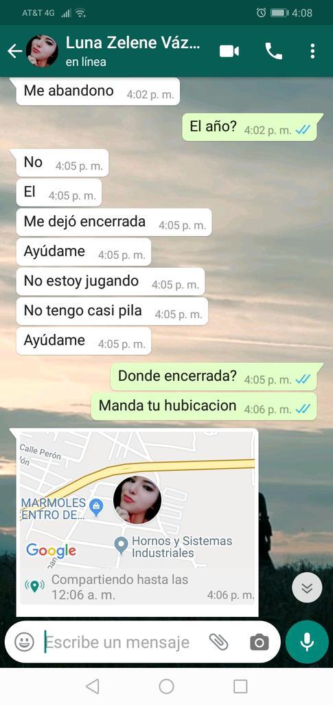 Viralizan mensajes de mujer que pide ayuda en Edomex.