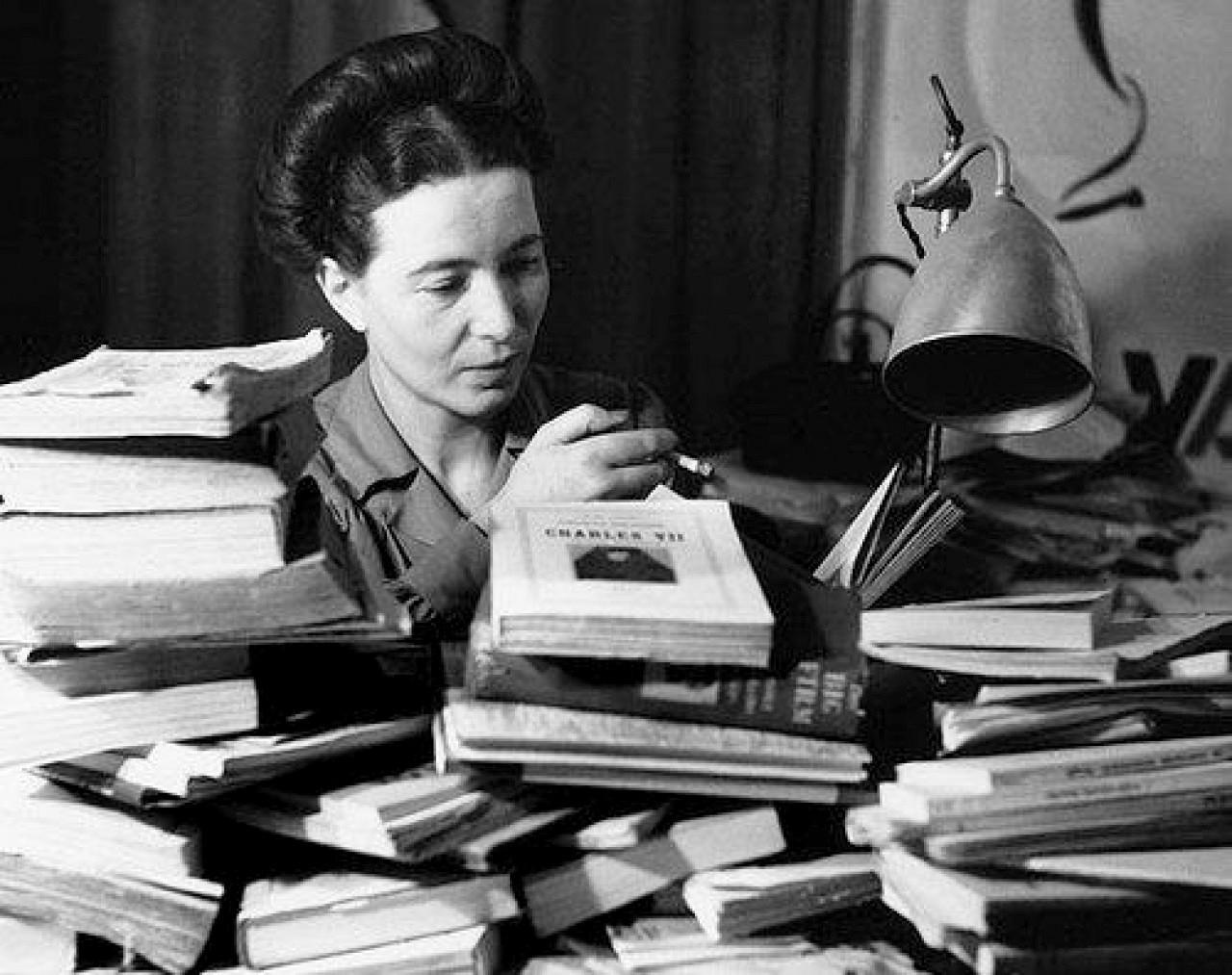 Simone de Beauvoir, fundadora del feminismo.