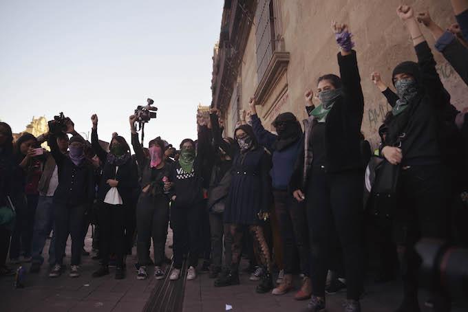 El 14 de febrero colectivas feministas habían protestado por el feminicidio de Ingrid (Foto: Plumas Atómicas/ Mónica Vázquez)