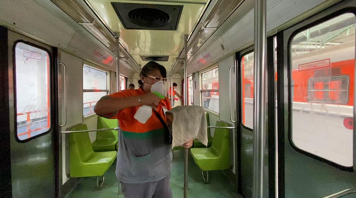 Coronavirus, Metro, CDMX, Limpieza