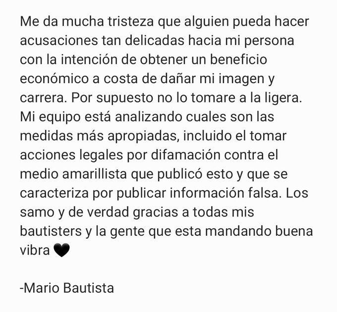 Mario Bautista, Acusacion, Abuso Sexual, Violencia Genero