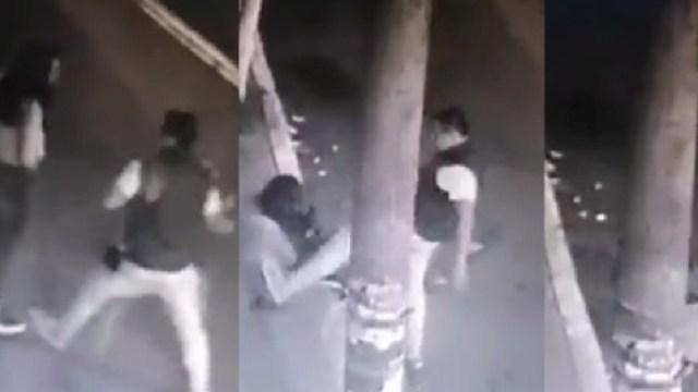 Un sujeto golpeó y pateóa una mujer en las calles de la CDMX (Imagen: Sin Embargo)