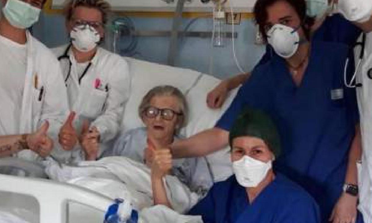 Anciana, Italiana, Sobrevivio, Coronavirus