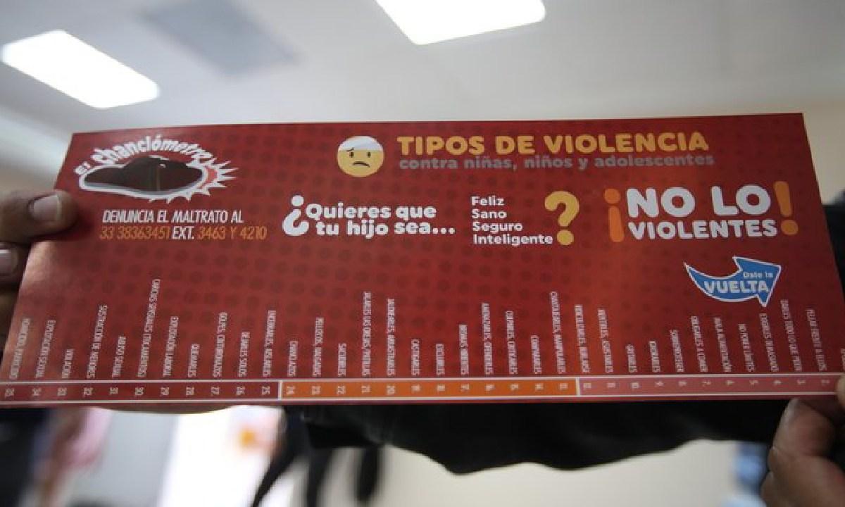 En Zapopan crean el chanclómetro pare combatir el maltrato infantil (Imagen: Milenio)