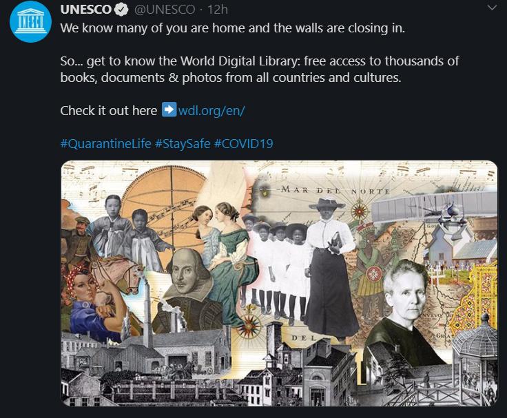 UNESCO, Biblioteca Digital Mundial, Coronavirus, Libre Acceso
