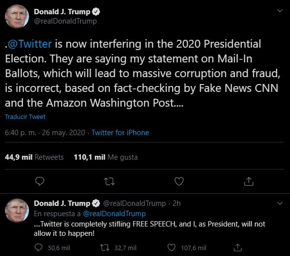 Donald Trump, Twitter, Fake News, Verificar
