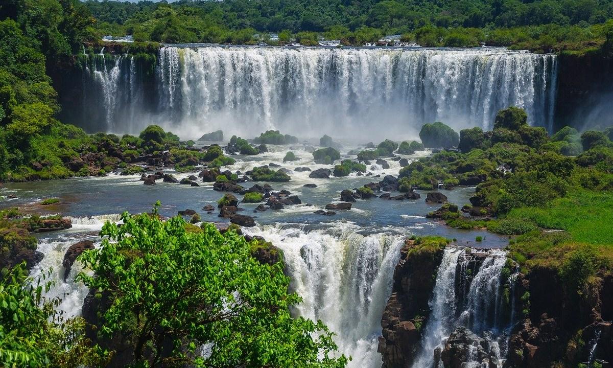 Cataratas, Iguazu, Agua, Turistas