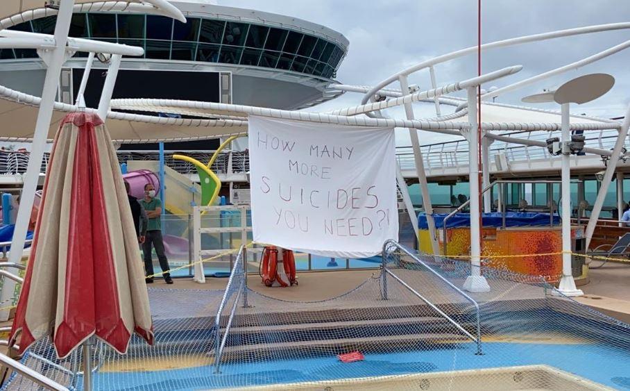 Trabajadores de cruceros de lujo varados en el mar ante pandemia de Covid-19