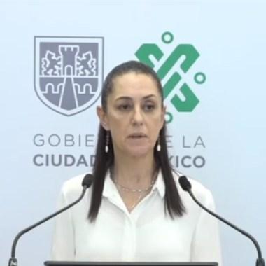 Claudia Sheinbaum en conferencia de prensa que anuncia que la CDMX cambia a semaforo naranja