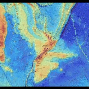 Mapa de Zelandia, el continente perdido de la Tierra