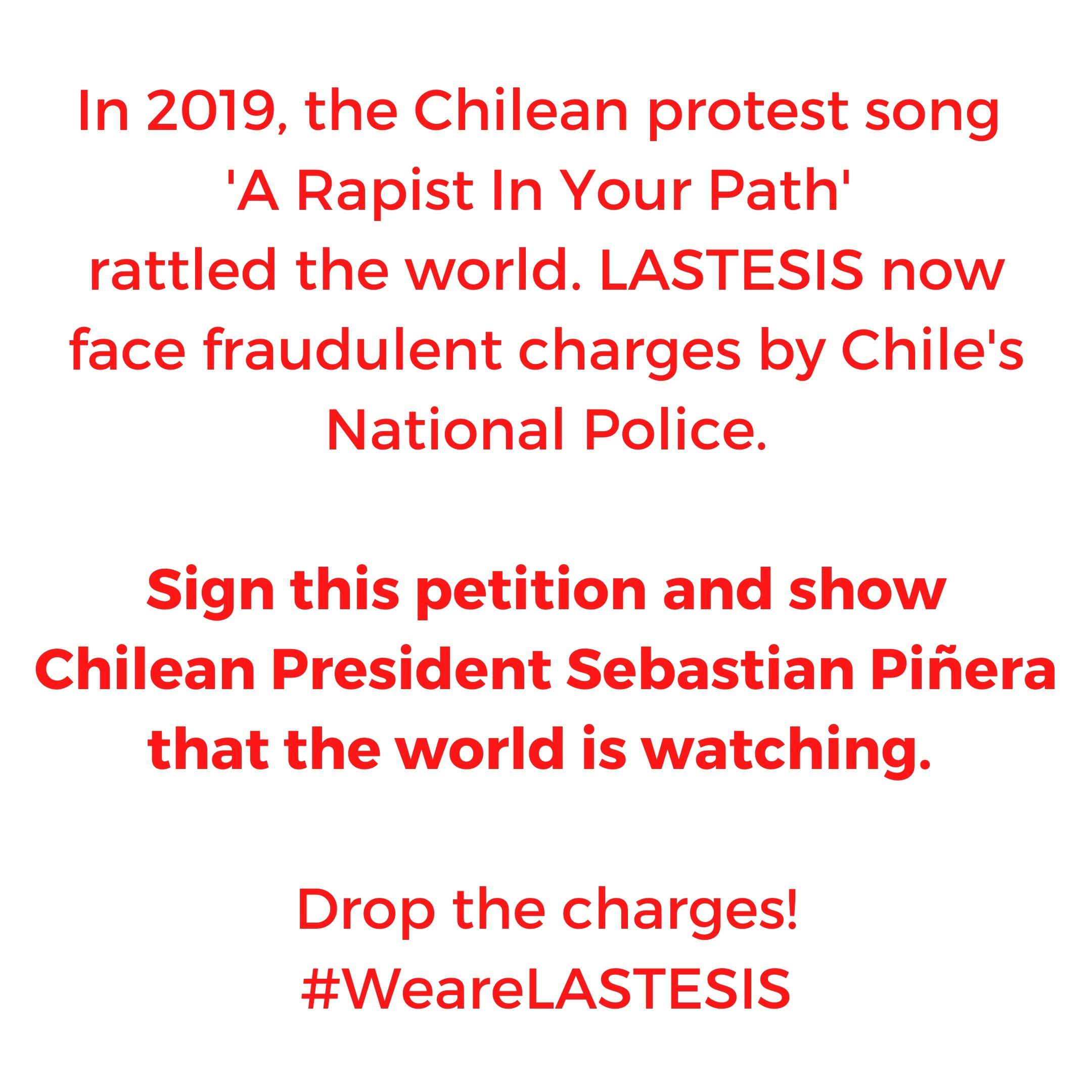 """Las actrices de Hollywood dirigieron una carta al presidente de Chile en apoyo a las Tesis, autoras de """"Un violador en tu camino"""""""