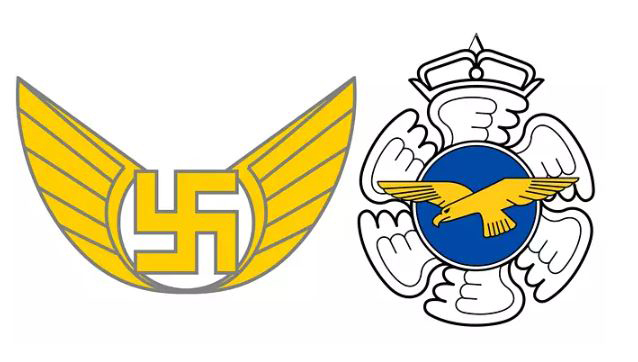 La esvástica de la fuerza aérea del ejército de Finlandia fue reemplazada por un águila