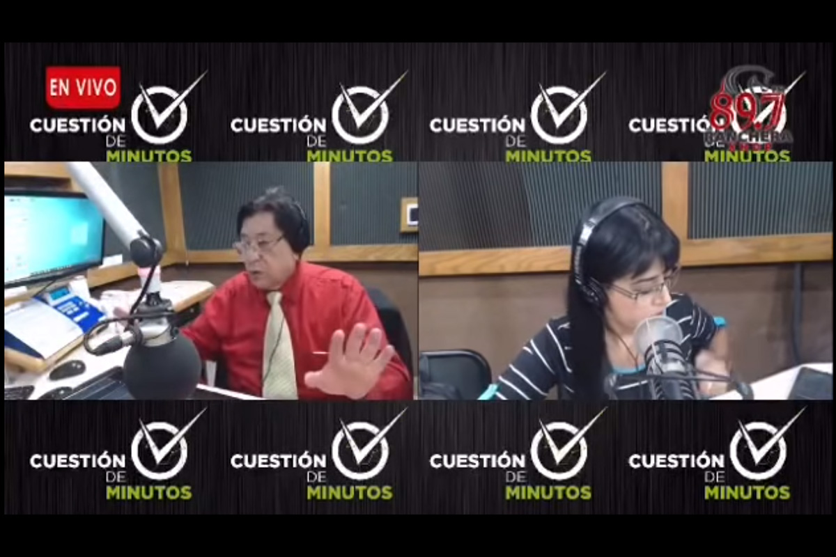 Israel Beltrán Montes le faltó el respeto a Brenda Chacón. Un video muestra al locutor de radio humillando a colaboradora en Chihuahua, Captura de Pantalla