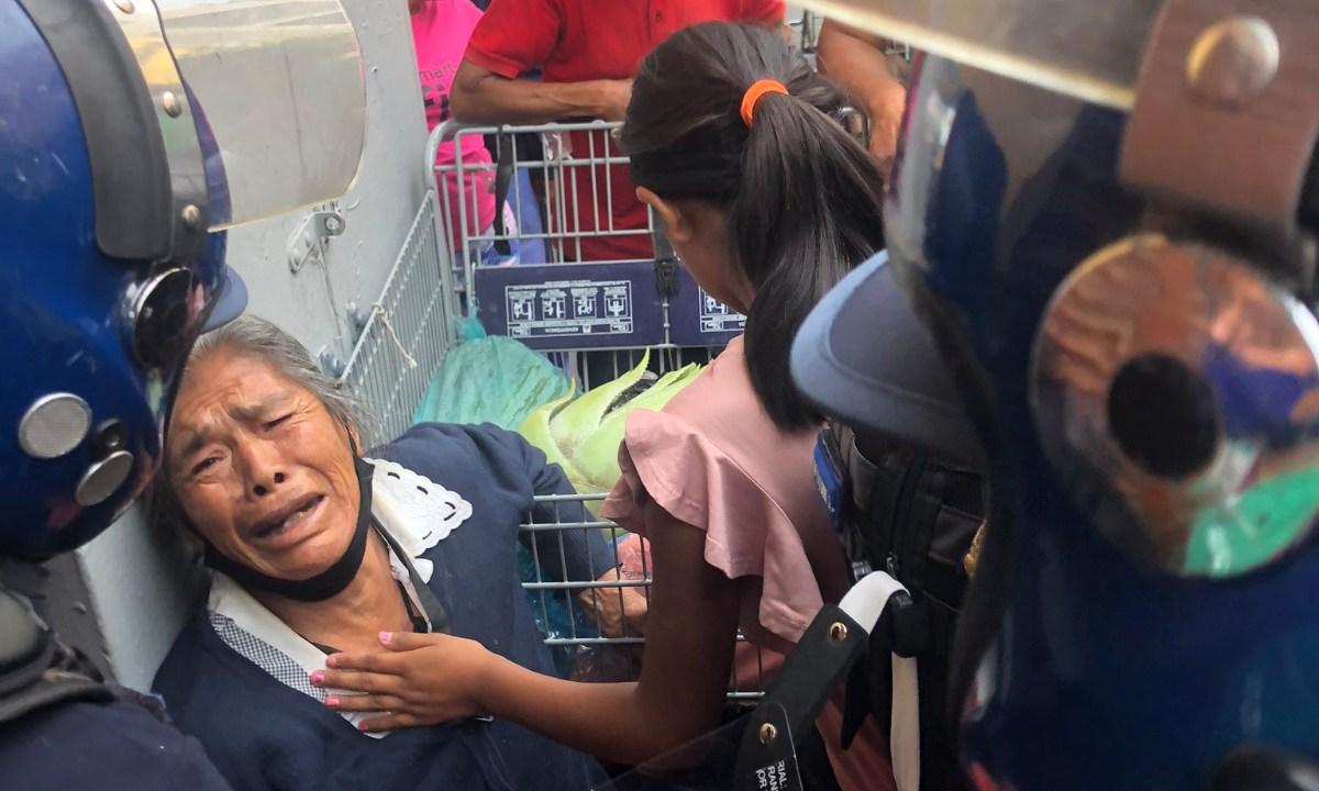 Vendedora ambulante desalojada Centro Histórico