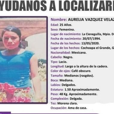 Caso Aurelia: desaparecida tras ser acusada por homicidio de su esposo en Guerrero