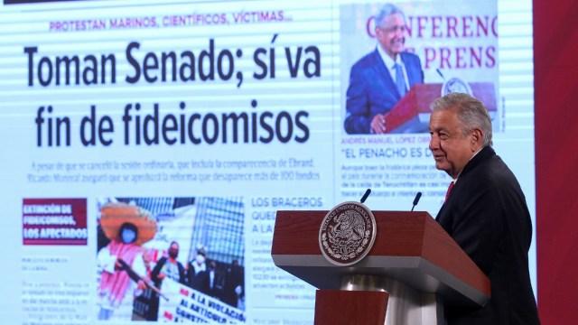 AMLO defender fideicomisos apoyar corrupción