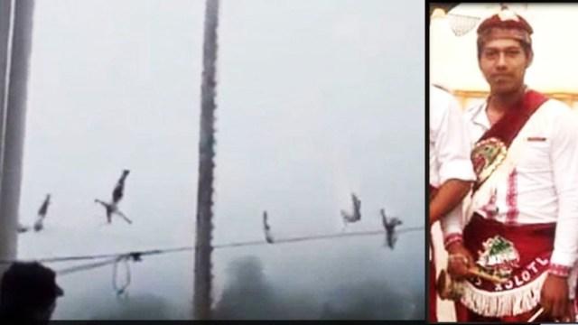 Volador de Papantla cae de 10 metros