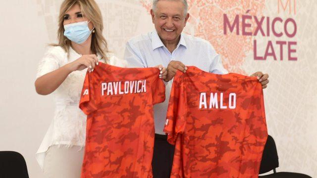 AMLO Sonora beisbol Claudia Pavlovich