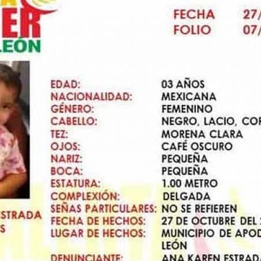 hallan muerta Ana Roberta arrebatada brazos de su madre Nuevo León