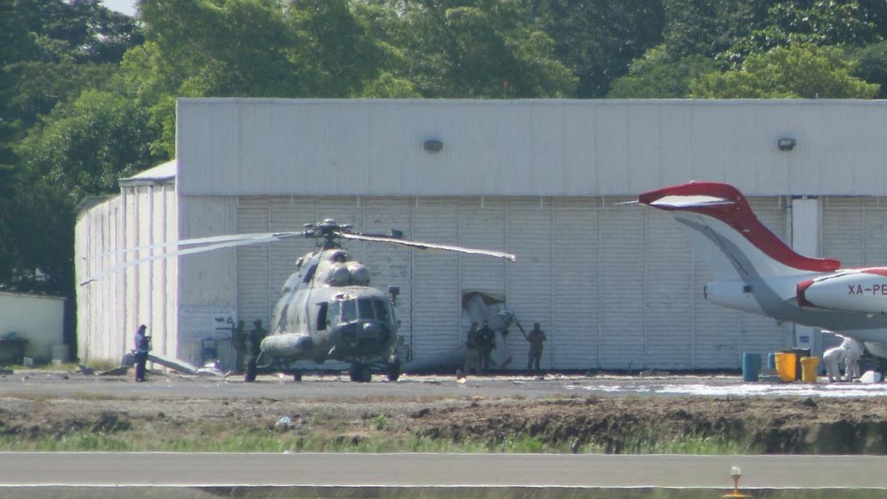 helicóptero Semar desploma Tabasco