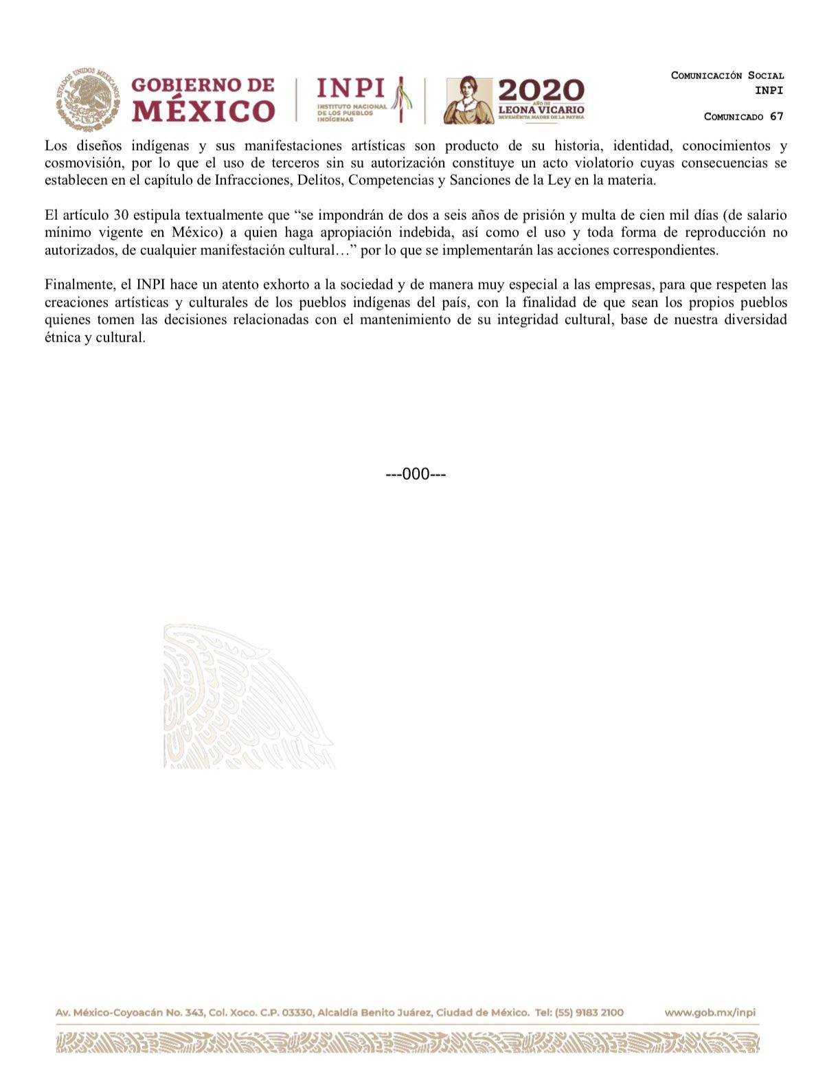 INPI condenó plagio de Isabel Marant, quien lanzó una colección con diseños muy similares a las de las comunidades de Michoacán