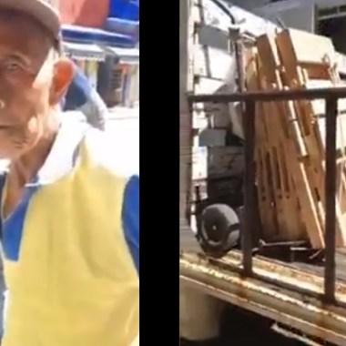 Un video muestra como inspectores en Oaxaca decomisaron sillas a un abuelito que las vendía para subsistir