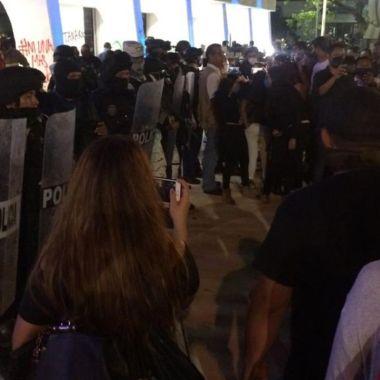 Cancún represión manifestación feminicidio Alexis
