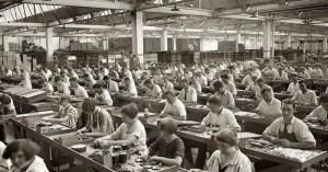 Trabajadores fábrica